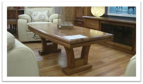 Belmont Coffee Table - in blackwood, clear finish