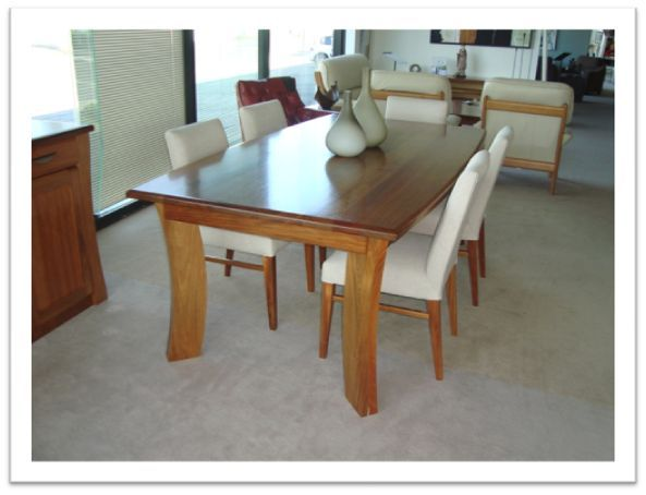 Johnson Dining Table - in blackwood, clear finish