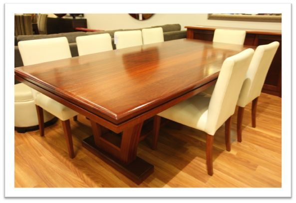 Belmont Dining Table - in blackwood timber, clear finish