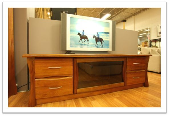 Belmont TV Unit - in blackwood timber, clear finish