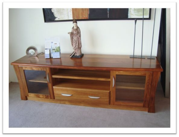 Johnson TV Unit - in blackwood, clear finish
